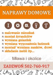 Naprawy domowe: Mława i okolice