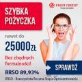 Pożyczka do 25.000 tys. zł, raty do 36 miesięcy