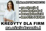kredytY dla FIRM na OŚWIADCZENIE! 30 000 zł bez PITu i KPiR!